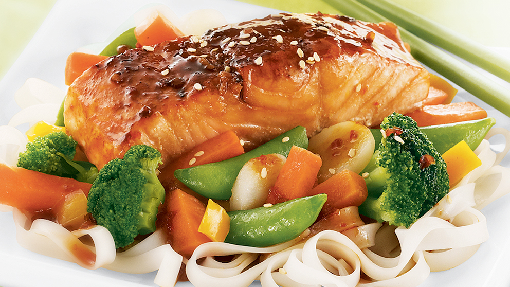 Image of Maple-Asian Glazed Salmon