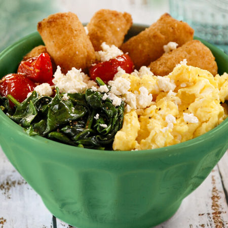 Image of Veggie Tots, Egg & Cheese Breakfast Bowls