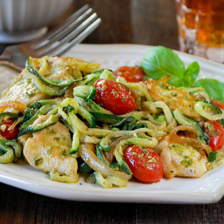 Image of Pesto Z'paghetti with Chicken and Roasted Tomato